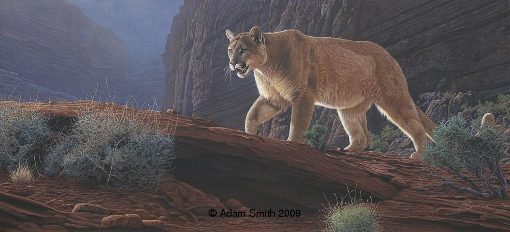 """Canyon Glow"" - Acrylic - 16"" x 35"" - Sold Canyon Glow African artist Adam Smith Adam Smith Artist"